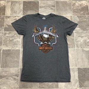 Men's Harley Davidson big eagle logo t shirt